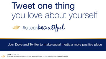 Dove + Twitter partner for social change with #SpeakBeautiful and the Oscars - American Sweepstakes