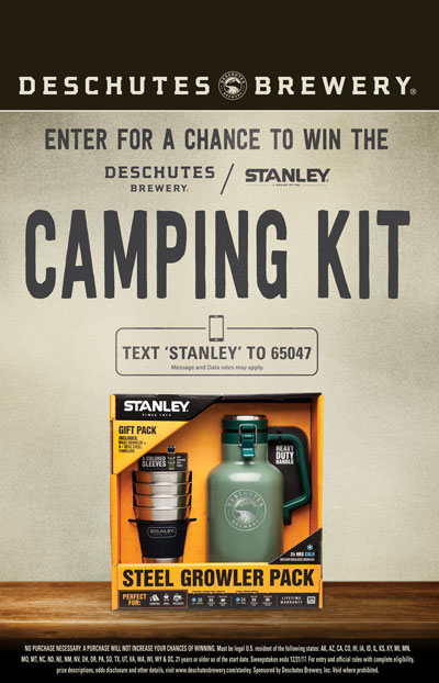 Text-to-win sweepstakes have been successful for Deschutes Brewery