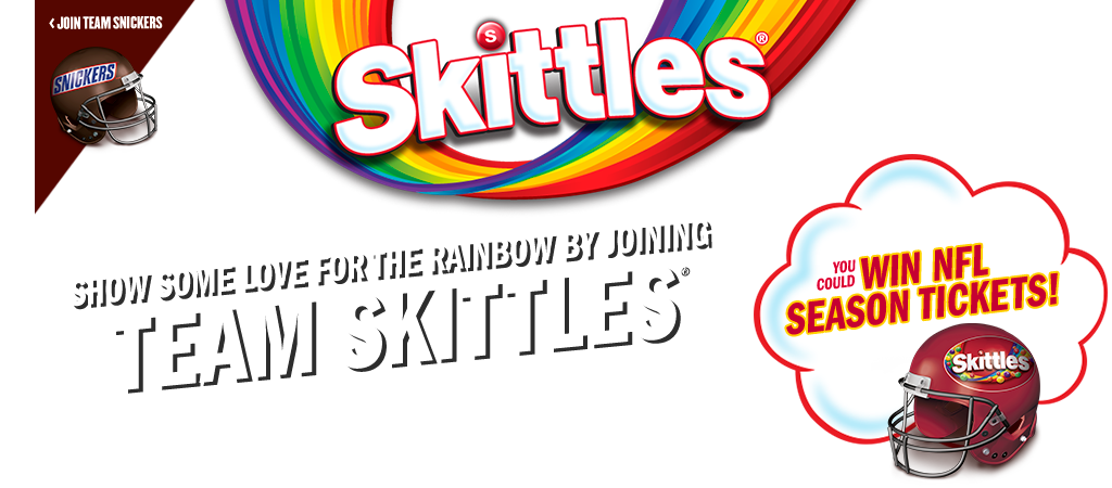 Skittles and Snickers launch Super Bowl LII Rivalry Sweepstakes