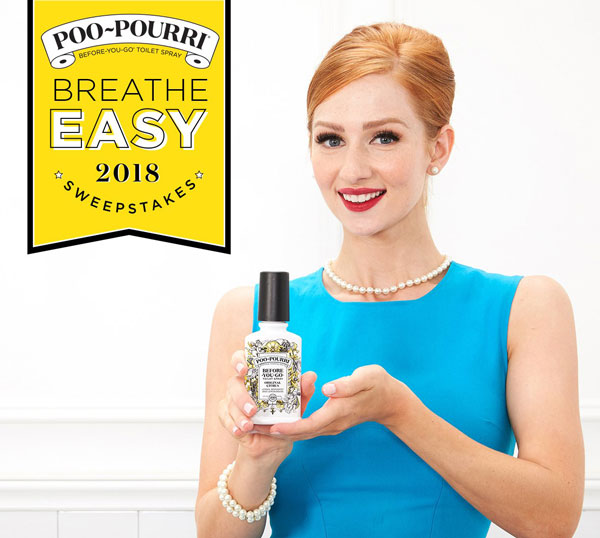breathe easy sweepstakes from poo pourri requests participants to