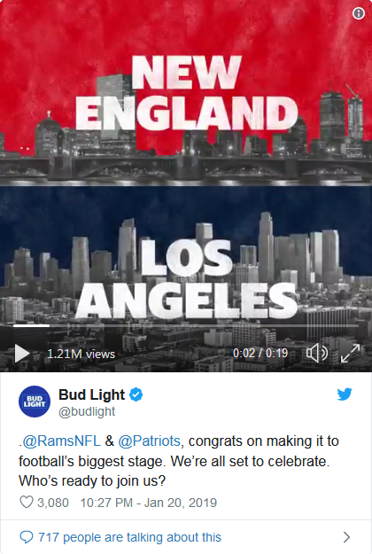 Here's some more Super Bowl LIII Ads along with promotions